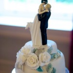 A & W wedding cake topper