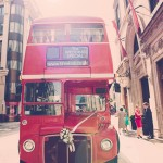 Louise & Tim - wedding planning London bus