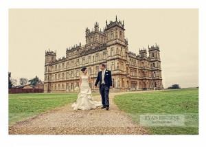 Highclere Castle wedding via Ryan Browne Photography
