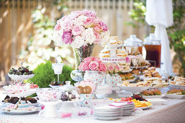 Garden Tea Party Ideas thank you for sharing these fabulous birthday party ideas with us vendor credits styling maggie and cristina from via blossom httpviablossomcom Vintage Dish Host Afternoon Tea Honeybeevintagebridalcom