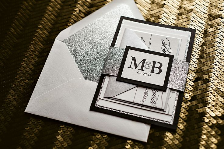 Black And Silver Wedding Invitations: A Day & Night At The BAFTAs
