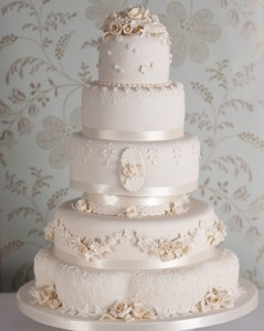 Fiona Cairns White Wedding Cake