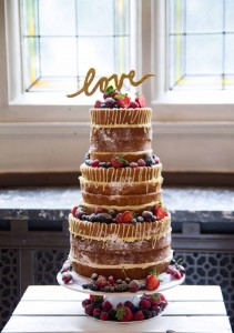 Naked Victoria Sponge Wedding Cake by Abigail Bloom