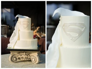 Superman wedding cake - Candice K photography