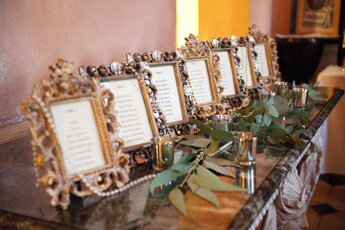 Seating Plan Vintage Frames Wedding