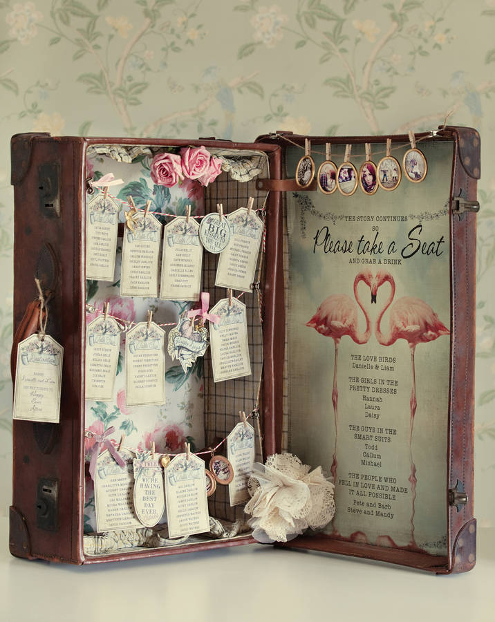 Fl Wedding Plan Suitcase Table