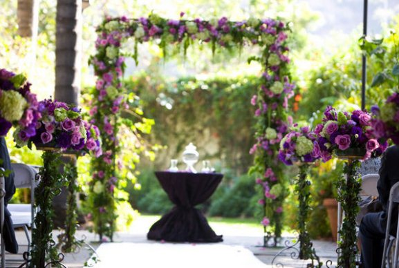 Purple Such A Fabulous Colour Scheme For Wedding Deep Ceremony Junglespirit Images