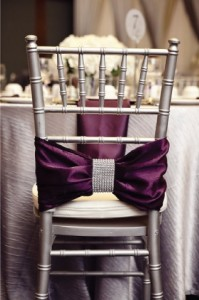 wedding chair ribbon