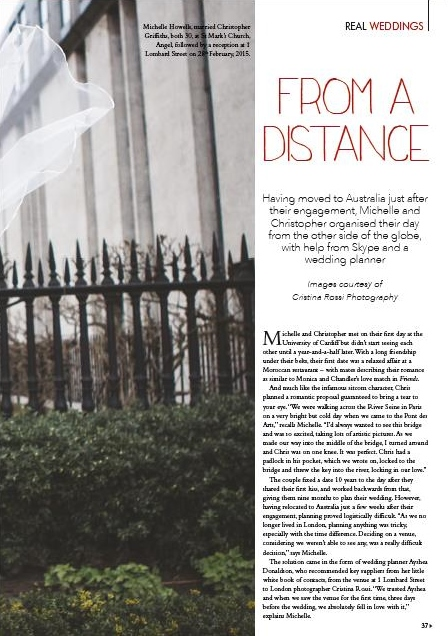 My London Wedding Planner in the Press Real Wedding Feature