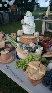Cheila & Dom's cheese wedding cake