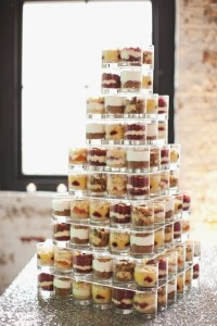 Dessert glasses tower