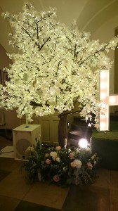 Wedding venue light tree
